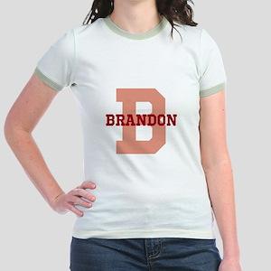 CUSTOM Initial and Name Red Jr. Ringer T-Shirt