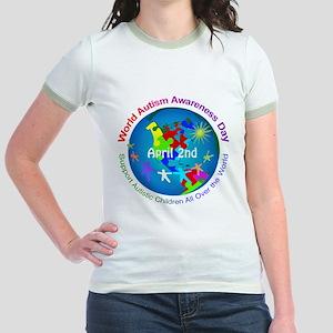 World Autism Awareness Day Jr. Ringer T-Shirt