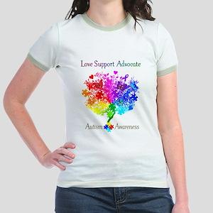 Autism Spectrum Tree Jr. Ringer T-Shirt