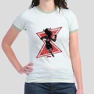 The Avengers Black Widow Jr. Ringer T-Shirt