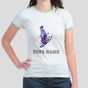 Girl Skiing (Custom) T-Shirt