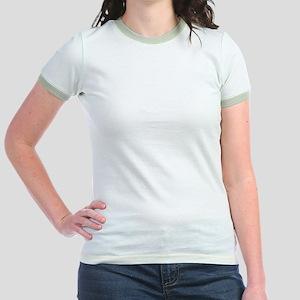 Simple White Pink Plaid Pattern Jr. Ringer T-Shirt