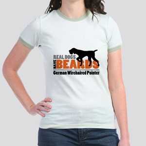 Real Dogs Have Beards - GWP Jr. Ringer T-Shirt