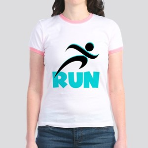 RUN Aqua Jr. Ringer T-Shirt