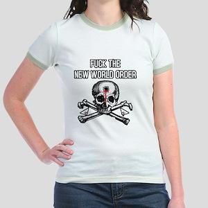 illuminati new world order 911 Jr. Ringer T-Shirt