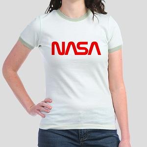 NASA Worm Logo Jr. Ringer T-Shirt