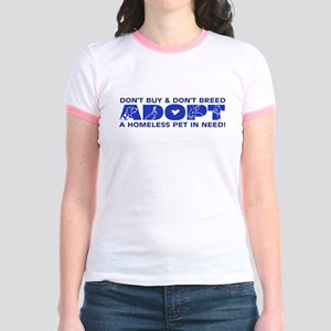 Blue Adopt Jr. Ringer T-Shirt