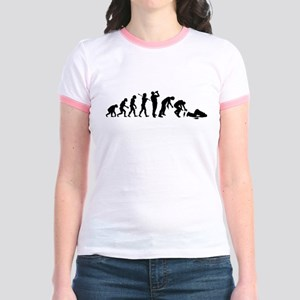 Evolution Of Drunk Jr. Ringer T-Shirt