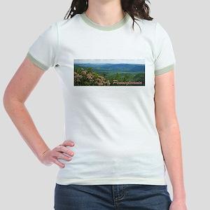 Pennsylvania Mountain Laurel Jr. Ringer T-Shirt