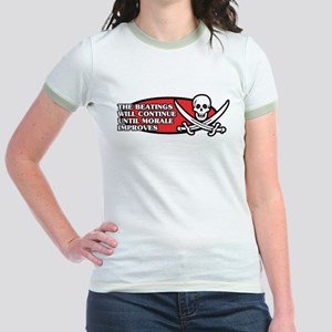 Beatings will Continue Jr. Ringer T-Shirt