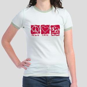 Peace.Love.Buffalo Jr. Ringer T-Shirt
