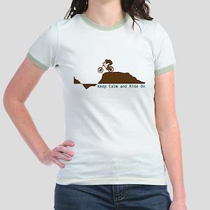Mountain Bike - Keep Calm Jr. Ringer T-Shirt