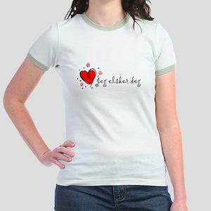 """""""I Love You"""" [Norwegian] Jr. Ringer T-Shirt"""