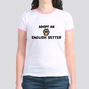 Adopt an ENGLISH SETTER Jr. Ringer T-Shirt