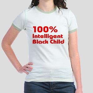 100% Intelligent Black Child Jr. Ringer T-Shirt