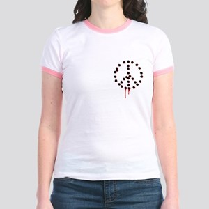 Bullet hole peace sign Jr. Ringer T-Shirt