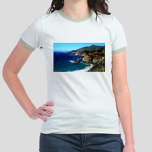 Big Sur on the Pacific Coast Jr. Ringer T-Shirt