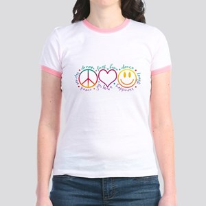 Peace Love Laugh Jr. Ringer T-Shirt
