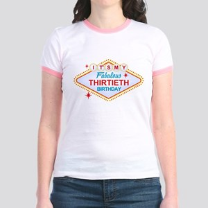 Las Vegas Birthday 30 Jr. Ringer T-Shirt
