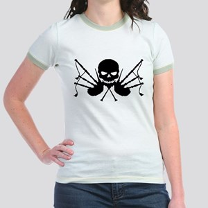 Skull & Crossdrones, Black Jr. Ringer T-Shirt
