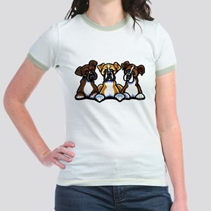 Three Boxer Lover Jr. Ringer T-Shirt