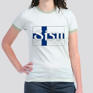 Finnish Sisu (Finnish Flag) Jr. Ringer T-Shirt