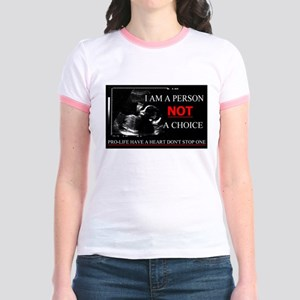 Pro-Life Have A Heart Don't Stop one Jr. Ringer T-