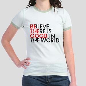 Be The Good In The World Jr. Ringer T-Shirt