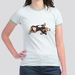 Sleeping Bernese Mountain Dog Jr. Ringer T-Shirt