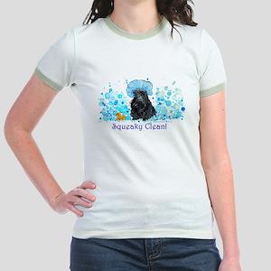 Scottish Terrier Bubble Bath Jr. Ringer T-Shirt