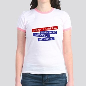 """Annoy a Liberal"" Jr. Ringer T-Shirt"