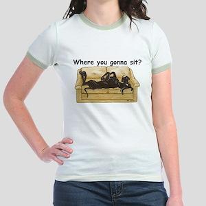 NBlk Where RU Jr. Ringer T-Shirt