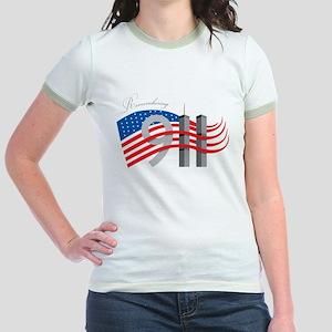Remembering 911 Jr. Ringer T-Shirt