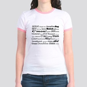 Tennis Words Jr. Ringer T-Shirt