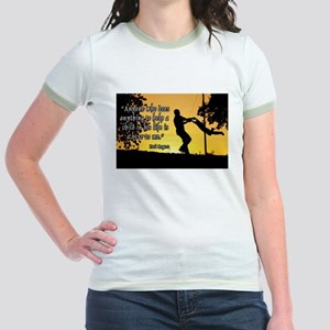 Mr. Rogers Child Hero Quote Jr. Ringer T-Shirt