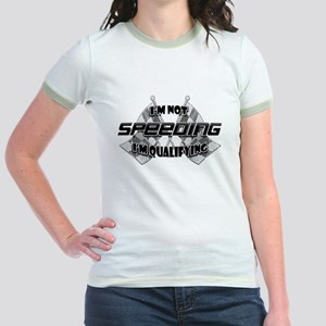 I'm Not Speeding Jr. Ringer T-Shirt