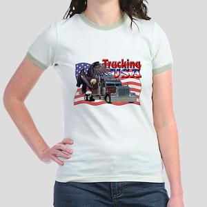 Trucking USA Jr. Ringer T-Shirt