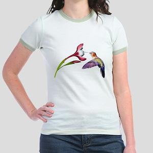 Hummingbird in flight Jr. Ringer T-Shirt