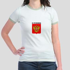 St. Petersburg, Russia Jr. Ringer T-Shirt