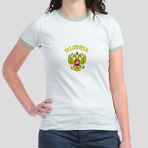 RUssia Coat of Arms (Dark) Jr. Ringer T-Shirt