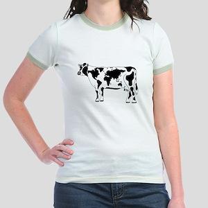 Cow Map Jr. Ringer T-Shirt