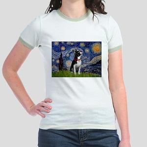 Starry Night & Boston Jr. Ringer T-Shirt