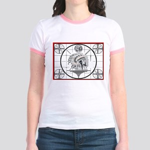 TV Test Pattern Indian Chief Jr. Ringer T-Shirt