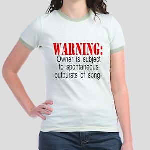 Warning:  Owner subject to sp Jr. Ringer T-Shirt