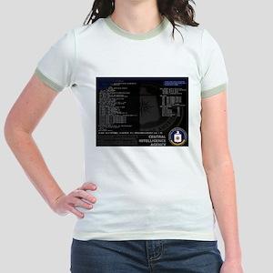 cia unix Jr. Ringer T-Shirt