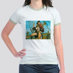pin-up pirate Jr. Ringer T-Shirt