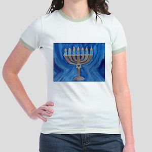 HANUKKAH MENORAH Jr. Ringer T-Shirt
