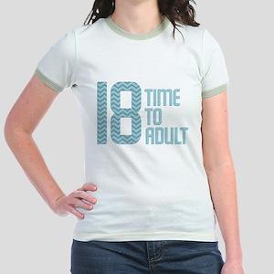 Time to Adult Blue Jr. Ringer T-Shirt