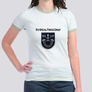 5th Special Forces Group Jr. Ringer T-Shirt