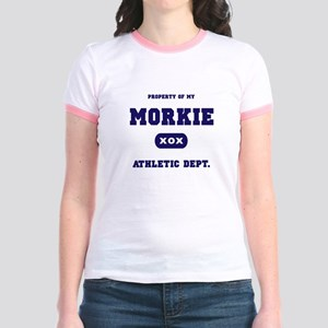 Property of my Morkie Jr. Ringer T-Shirt